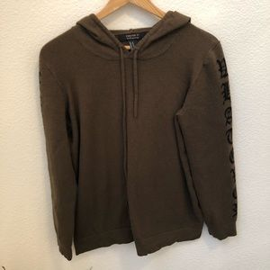 Forever 21 women's green hoodie sweater size M